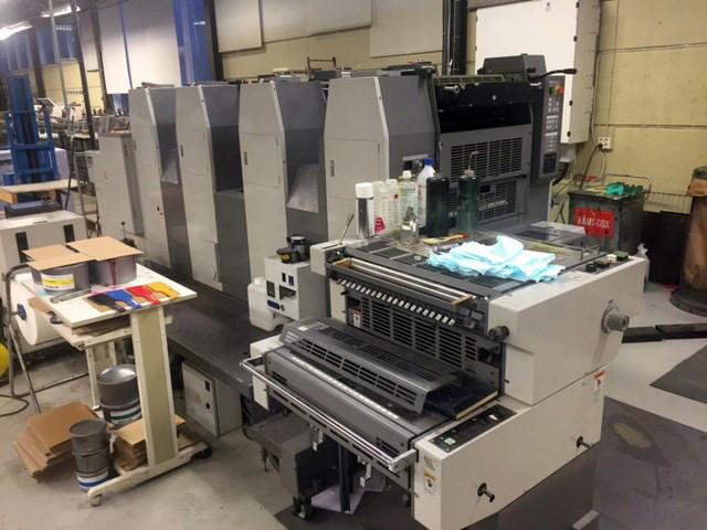 Ryobi 524GX б/у 2004г - 4-х красочная офсетная печатная машина