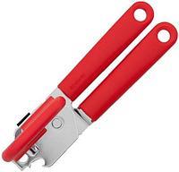 Консервный нож, универсальный, красный, 177 мм