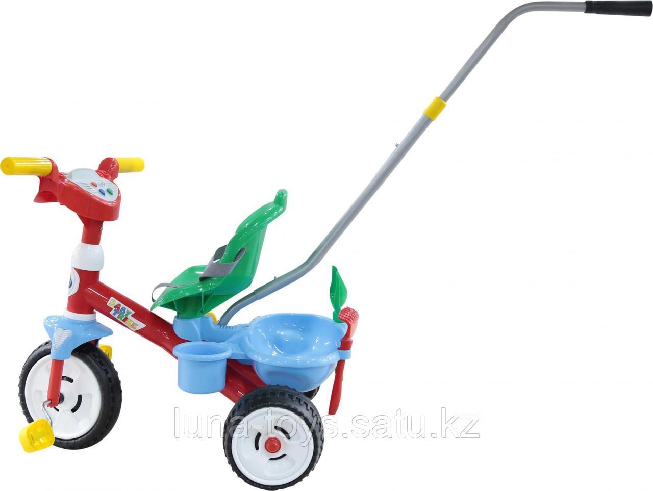 """Велосипед 3-х колёсный """"Беби Трайк"""" со звуковым сигналом и ремешком+Набор (2 элемента)"""