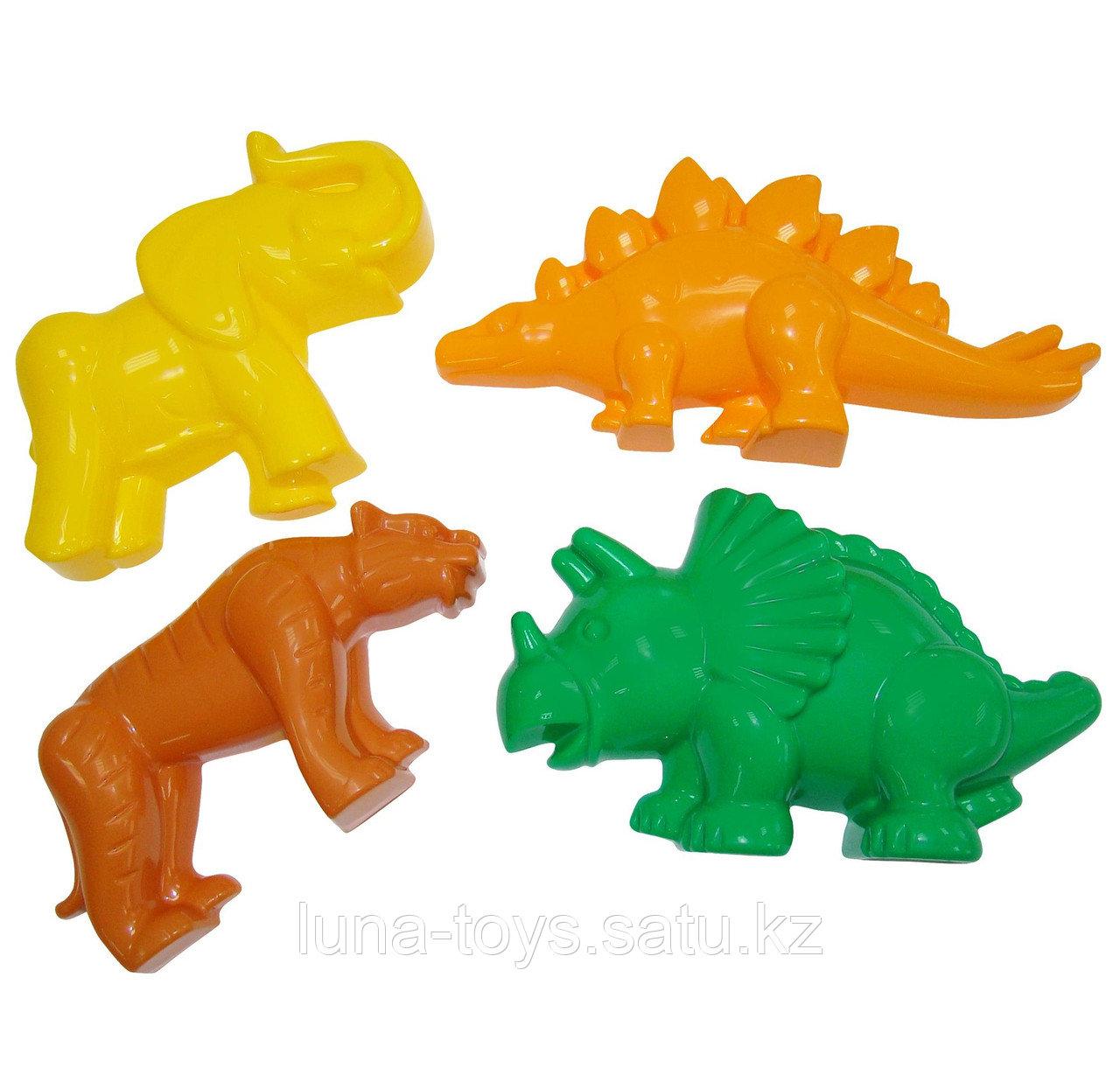 Формочки (тигр + мамонт + динозавр №1 + динозавр №2)