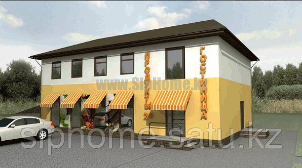 Придорожный магазин и гостиница из SIP панелей 306 кв.м