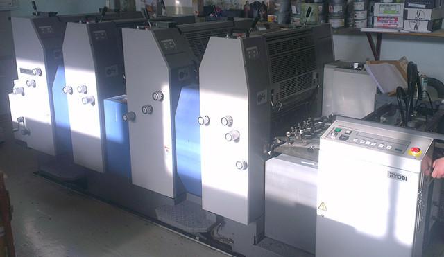 Ryobi 524HE б/у 2007г - 4-х красочная офсетная печатная машина