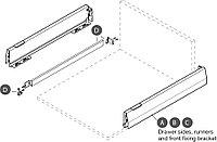 Рейлинг Moovit серый квадратный 600 мм, фото 1