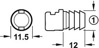 Рейлинг Moovit антрацит круглый 400 мм, фото 1
