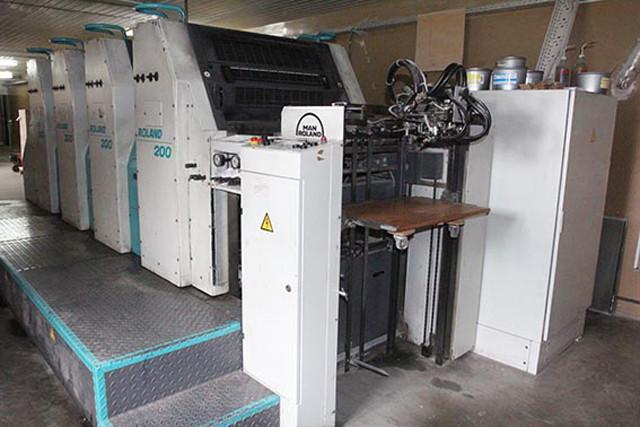 Man Roland 204 E б/у 2001г - 4-красочная печатная машина