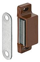 Магнитная защелка коричневая, удерживающее усилие 4-5 кг., фото 1