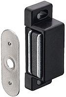 Магнитная мебельная защелка удерживающее усилие 2 кг, черный, фото 1