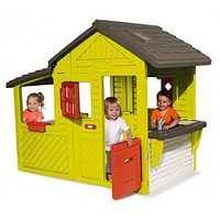 Садовый домик Smoby с кухней-барбекю и звонком