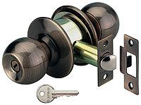 Дверной замок с округлыми ручками WC, бронза