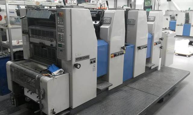 Ryobi 524HX б/у 1997г - 4-х красочная печатная машина