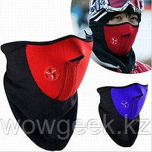 Флисовая маска для лица, защищает от холода и ветра