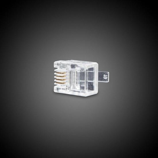 Коннектор телефонный UTP RJ-11, 4 pin