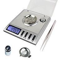Супер высокоточные портативные электронные ювелирные весы с дискретой 0.001 грамма и макс. весом 20 грамм (мод