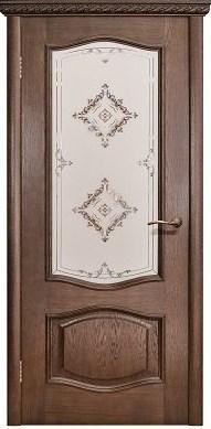 Межкомнатная шпонированная дверь Модена ДО орех