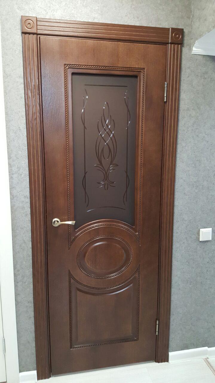 Межкомнатная шпонированная дверь Престиж каштан