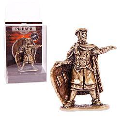 Солдатик металлический. Крестоносец-командир 54мм (1:32) латунь