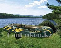 Надувная четырехместная лодка Seahawk 5 с веслами и насосом 351* 145* 48 см Intex 68351
