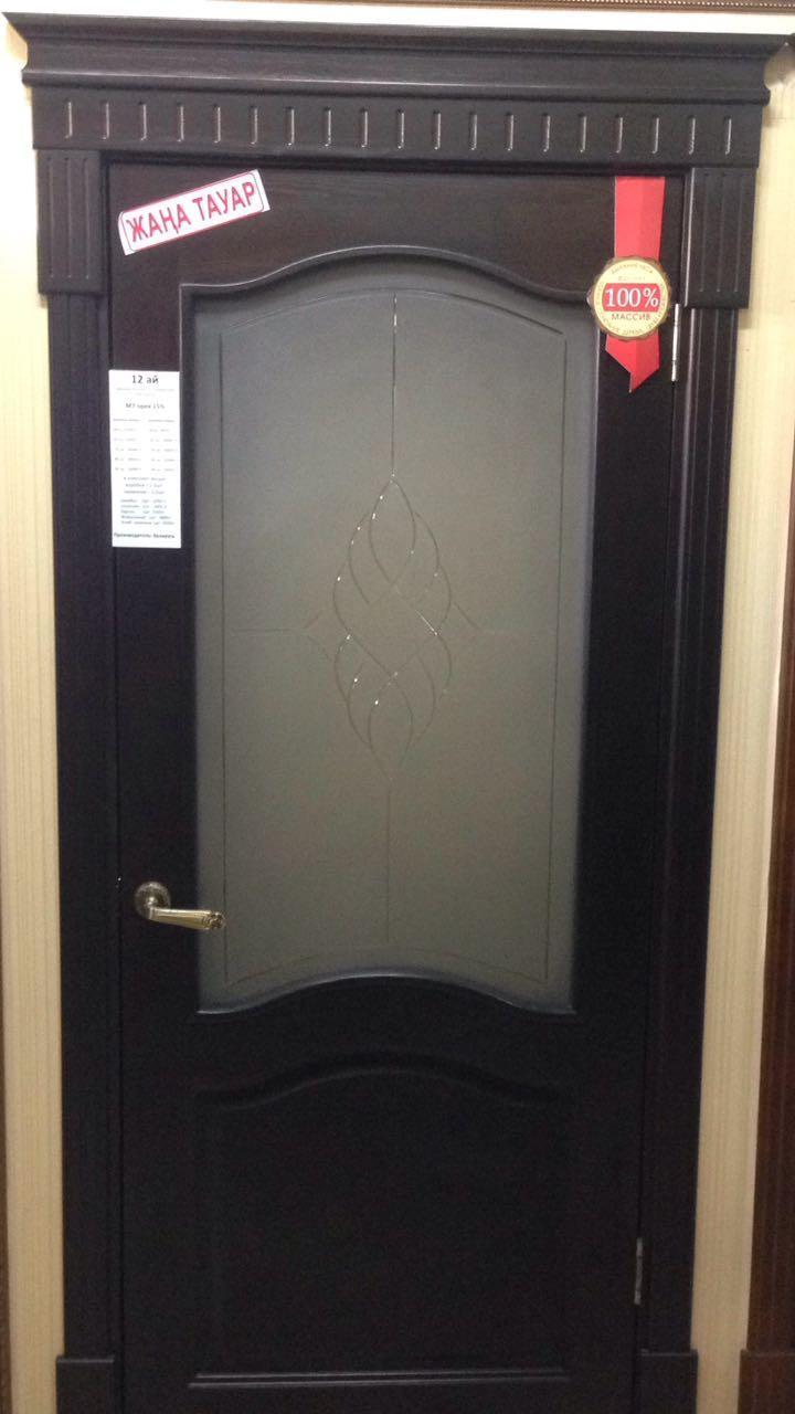 Межкомнатная дверь из массив сосны Модель М7 черный шоколад