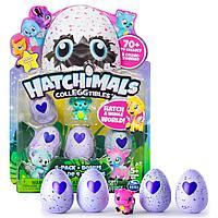 Коллекционная фигурка в яйце Hatchimals (4 шт) + бонус