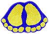Коврик для ванной Аквалиния 45*65 фиолетовый/ножки фигурка (2000061223071)
