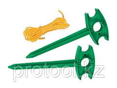 Набор - разметочные колышки 2 шт, разметочный шнур 5,5 м// PALISAD