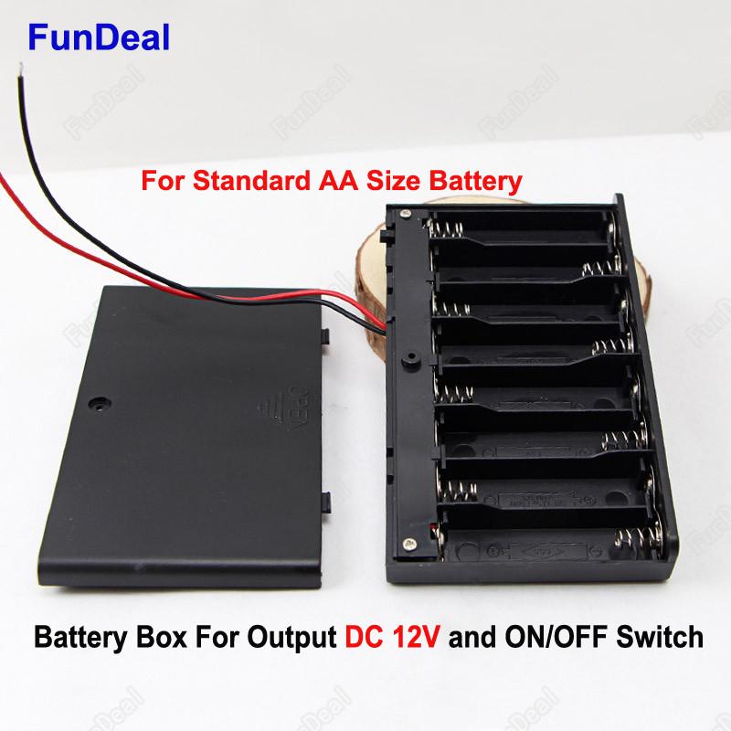 Батарейный отсек на 8 батареек АА закрытый с выключателем
