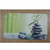 Коврик для ванной нейлон Зелёный камни Аквалиния 45*75 (CDB650MA)