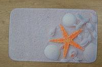 Коврик для ванной нейлон Ракушки Аквалиния 45*75 (CDB521MA-1)