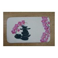 Коврик для ванной нейлон Розовый камни Аквалиния 45*75 (CDB651MA)