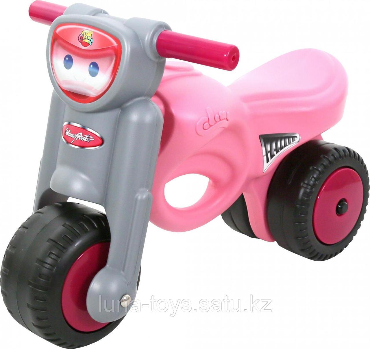 """Каталка -мотоцикл """"Мини-мото"""",розовая"""