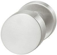 Ручка-кнопка межкомнатная для туалетной двери, сталь мат., 54 мм. диаметром
