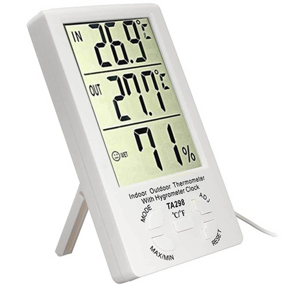 Цифровой комнатно-уличный термометр-гигрометр TA-298,Алматы