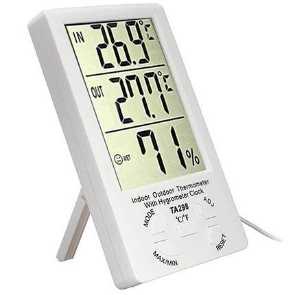 Цифровой комнатно-уличный термометр-гигрометр TA-298,Алматы, фото 2