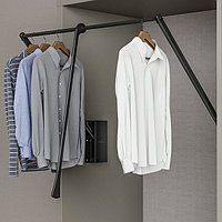 Лифт гардеробный, сталь, черный, нагрузка 10кг, 800-1150 мм