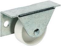 Мебельный ролик с боковым креплением, D 35 мм, белый, корпус: сталь, колесо: пластмасса, фото 1