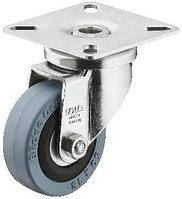 Мебельный ролик поворотный, корпус сталь, шарикоподшипниковый, D 75 мм, фото 1
