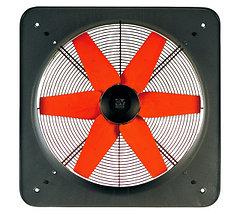 Осевые промышленные вентиляторы низкого давления с черной ступицей серии E