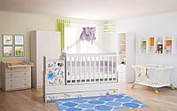 Кроватка трансформер детская Фея 1100 Слоник на шаре белый, фото 1