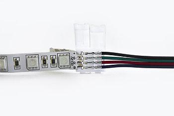 Односторонний коннектор для светодиодной ленты RGB