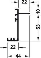 Двойная ходовая шина верхняя 2,5 м. Silent VF-40, фото 1