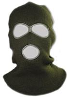 Маска-шапка зеленая, черная