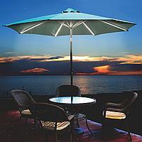 Садовый зонт угловой с LED подсветкой и лебедкой, фото 1