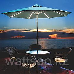 Садовый зонт угловой с LED подсветкой и лебедкой