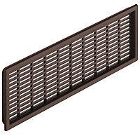 Решетка вентиляционная, пластмасса, коричневый 227x 68мм