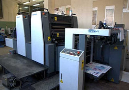 Komori GS 228 б/у 2006г - двухкрасочная печатная машина