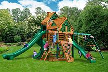 Комплекс Playnation «Горец 2» с высокими башнями и тремя горками