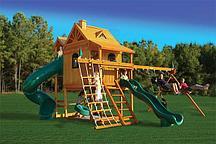 Игровая площадка с двумя спусками Playnation «Горный дом Делюкс»