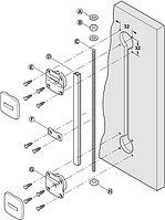 Выравнивающая фурнитура для дверей Planofit, сталь, 2650 мм, фото 1