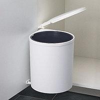 Мусоросборник, белый, пластмасса, 13 л, 400 мм, фото 1