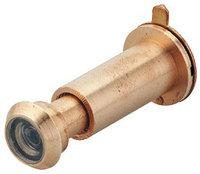 Дверной глазок, латунь полированная, А31-57 мм В12 мм, фото 1